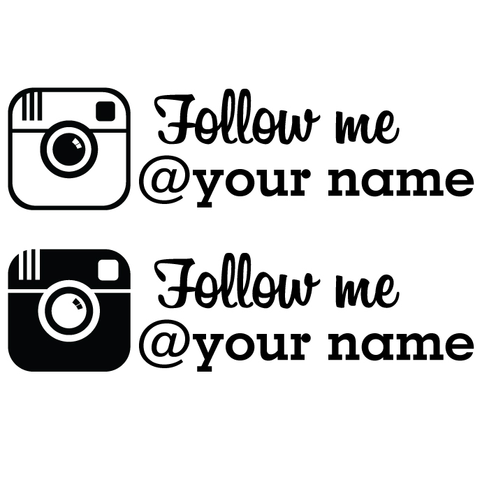 Follow me custom instagram decal houston streets